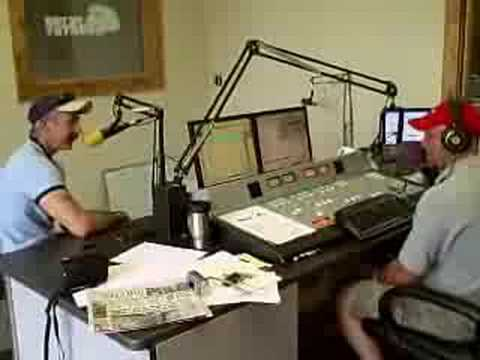 J Brooks and Aaron Tippin in Kiss Country Studio