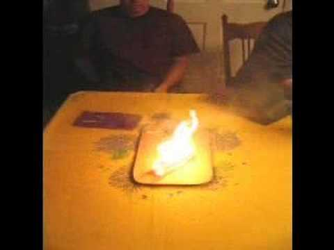 Burning paper flies